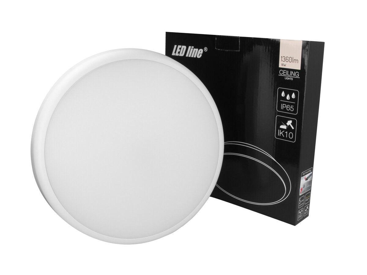Šviestuvas, LED 230Vac, 16W, LUNAR, PLAFOND, neutraliai balta, IP65, IK10, LED line
