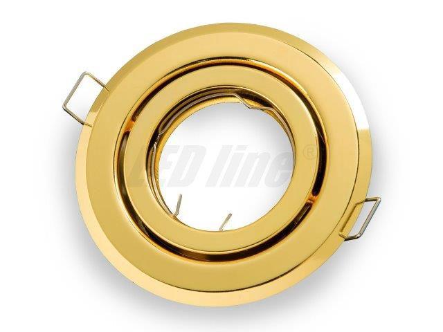 Įmontuojamas šviestuvas, apvalus, reguliuojamas, auksinis, LED line