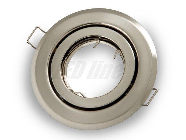 Įmontuojamas šviestuvas, apvalus, reguliuojamas, nerūdijančio plieno, LED line