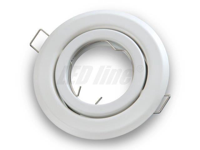 Įmontuojamas šviestuvas, apvalus, reguliuojamas, baltas, LED line