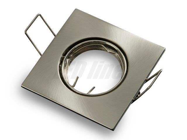 Įmontuojamas šviestuvas, MR11 kvadratinis, reguliuojamas, aliuminio lydinys, nerūdijančio plieno, LED line