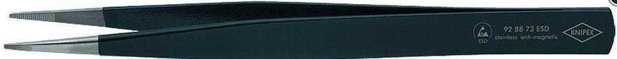 Pincetas 130mm, antistatinis, tiesus, antimagnetinis 92 88 73 ESD KNIPEX