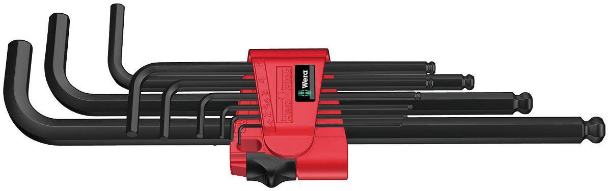 L-raktų šešiakampių rinkinys BlackLaser 950/9 Hex-Plus 6, 022086 Wera