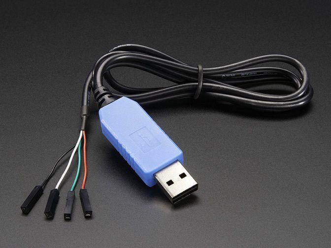 Programavimo laidas USB TO TTL skirtas Raspberry Pi, maršrutizatoriams, mikrovaldikliams ADAFRUIT