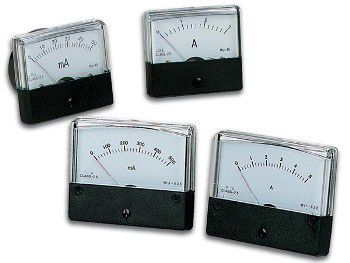 Panelinis rodyklinis ampermetras DC 100mA 60x47mm