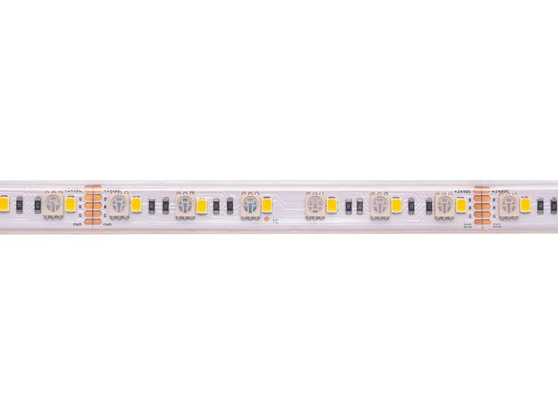 LED juosta 24V 19.2W/m hermetiška IP67 T formos, RGB+W, padidinto efektyvumo, PREMIUM AKTO