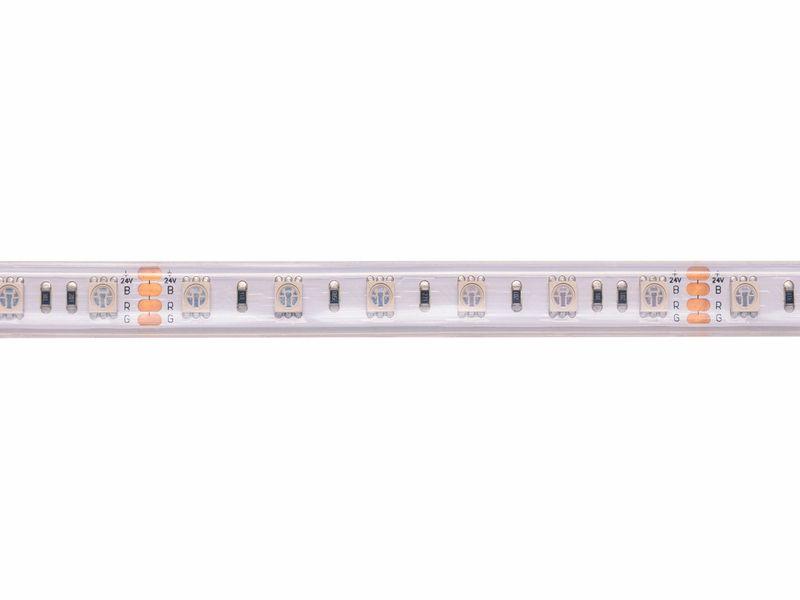 LED juosta 24V 14.4W/m hermetiška IP67, T formos, RGB padidinto efektyvumo, PLUS AKTO