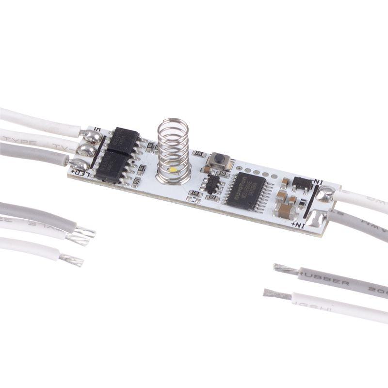 LED juostos valdiklis CCT juostoms, BICO, 12-24Vdc, 5A, lietimui jautrus, montuojamas į profilį, Designlight