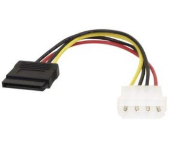 """Maitinimo kabelis 5.25"""" kištukas - SATA lizdas  0.15m"""