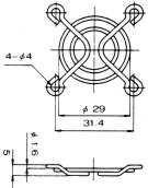 Grotelės ventiliatoriui 40x40mm metalinės
