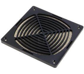 Grotelės ventiliatoriui 120x120mm su filtru plastikinės