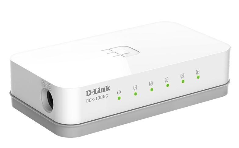 Komutatorius nevaldomas 10/100Mbit/s 5xLAN, D-LINK