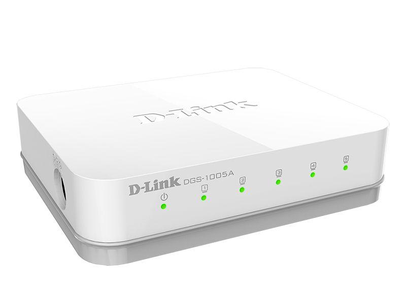 Komutatorius nevaldomas 10/100/1000Mbit/s 5xLAN Gigabit, D-LINK
