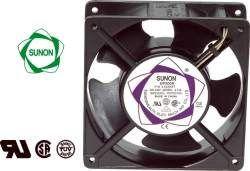 Ventiliatorius 120x120x38mm 230VAC 22W 161m³/h 44dBA su įv. SUNON RoHS