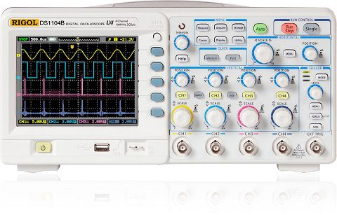 Osciloskopas DS1104B 4 kanalų 100MHz 2GSa/s RIGOL