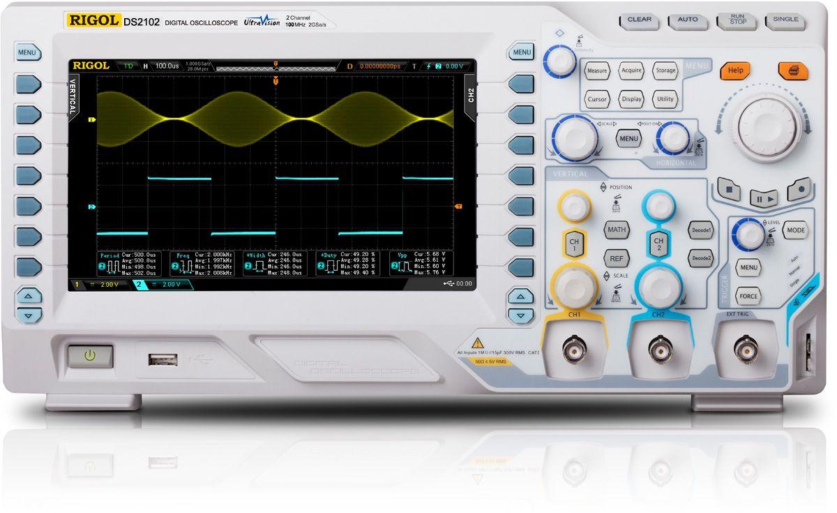 Osciloskopas DS2102 2 kanalų 100MHz 2GSa/s 14Mpts RIGOL