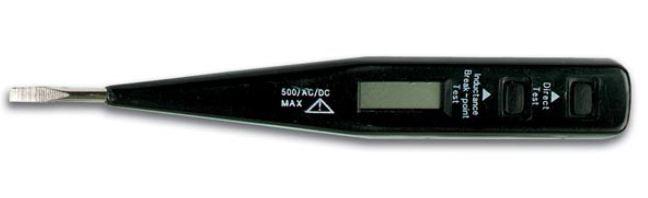 Įtampos indikatorius AC/DC 12-220V su LCD