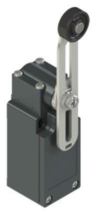 Galinės padėties jungiklis su keičiamo ilgio svirtele ir ratuku FM 555-M2K23, Pizzato