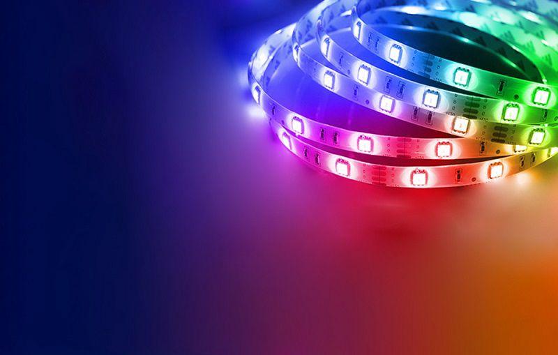LED juostos komplektas su Wi-Fi valdikliu ir maitinimo šaltiniu, RGB, 10m, 24W, TUYA / Smart Life, Gosund