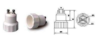 Lizdas lempos E14 perėjimas į GU10 cokolį