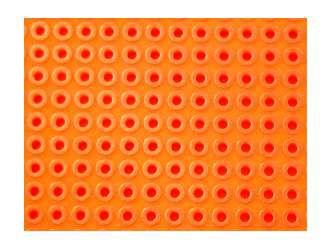 Univ. spausdintinė plokštė 100x50mm, getinaksas, atskiros kiaurymės