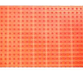 Univ. spausdintinė plokštė 160x100mm, getinaksas, sujungtos linijomis po 3-kiaurymes