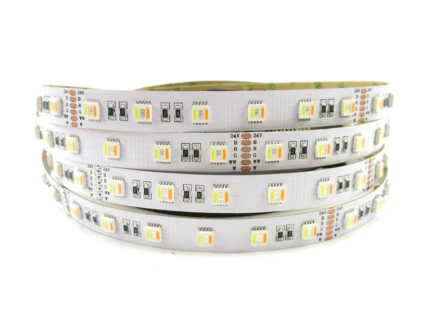 LED juosta 12V 18W/m nehermetiška IP20 RGB +W +WW CCT, PLUS