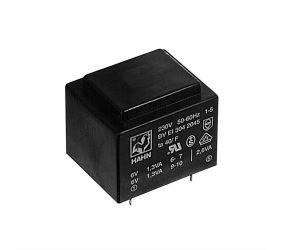 Transformatorius 230V/2x9V 2x0.145A 2.6VA Hahn, RoHS