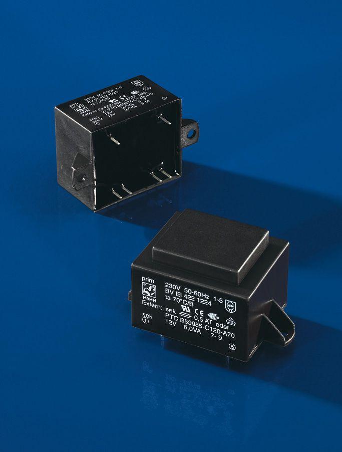 Transformatorius 230V/2x9V 2x0.334A 6W Hahn, RoHS