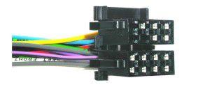 ISO lizdas 8+8pin (dvigubas) su 13 laidų