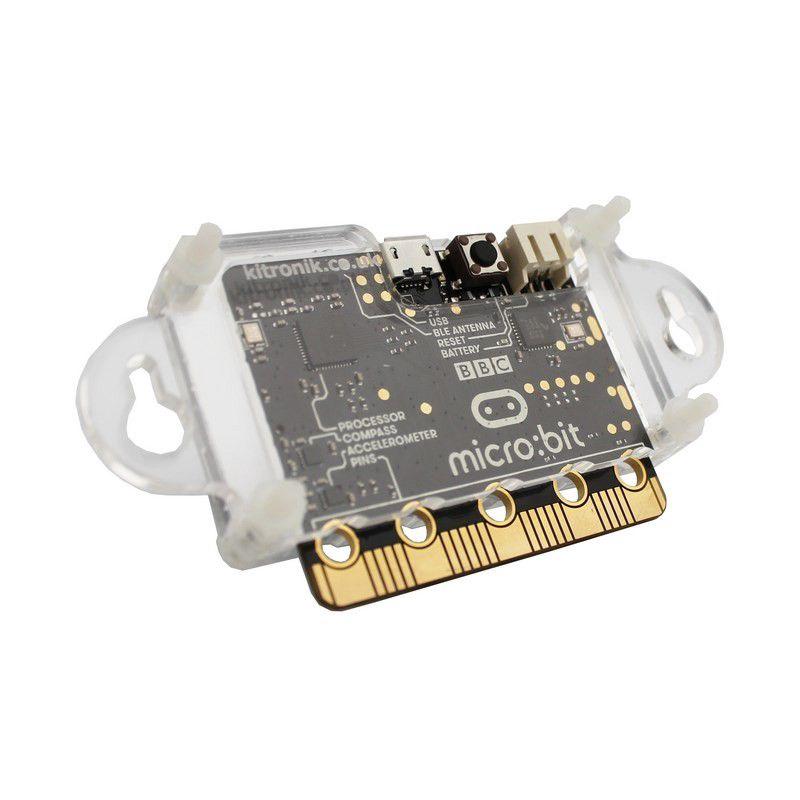 Korpusas BBC micro:bit mikro kompiuteriui su tvirtinimo prie plokštės ausimis