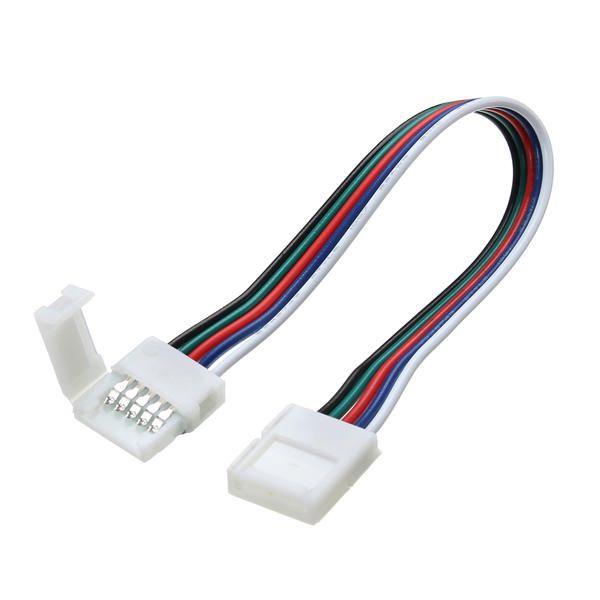 LED jusotų RGBW 12mm sujungimas, užspaudžiamas, su 15cm laidu