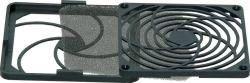 Grotelės ventiliatoriui 80x80mm su filtru 45ppi