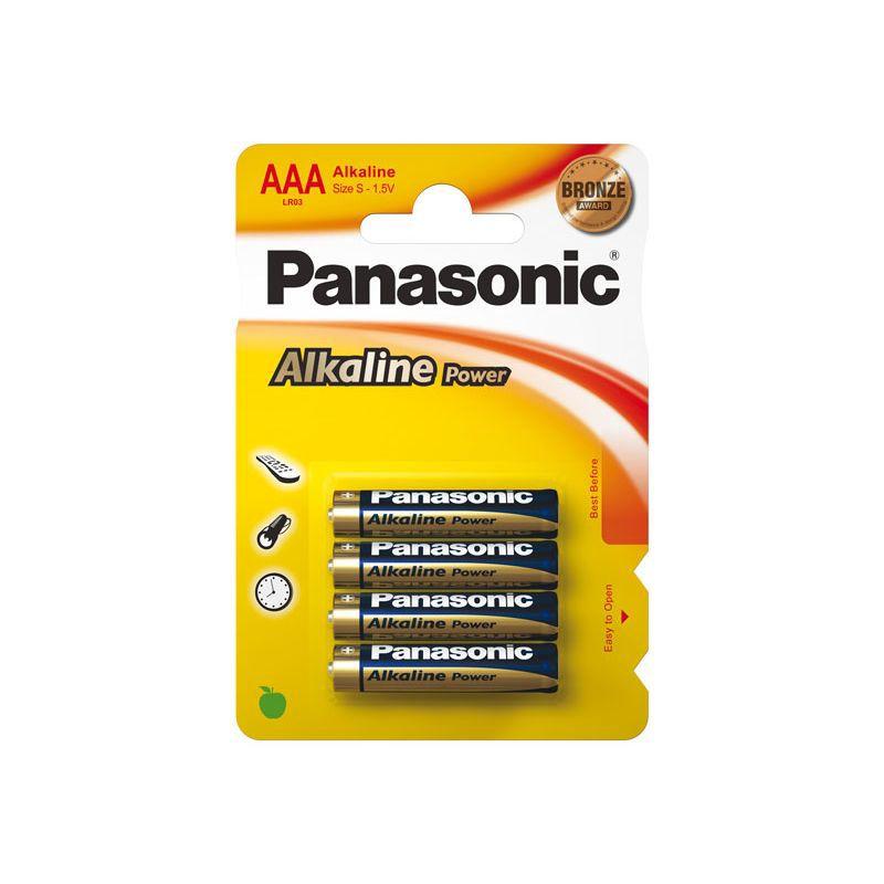Šarminė baterija R3 (AAA) 1.5V Panasonic Alkaline Power (4vnt pakuotėje)