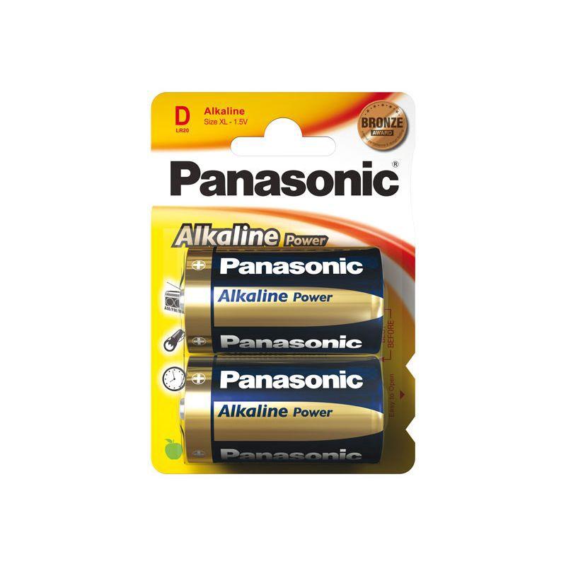 Šarminė baterija R20 (D) 1.5V Panasonic Alkaline Power (2vnt pakuotėje)