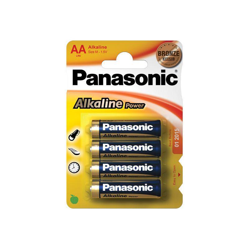 Šarminė baterija R6 (AA) 1.5V Panasonic Alkaline Power (4vnt pakuotėje)