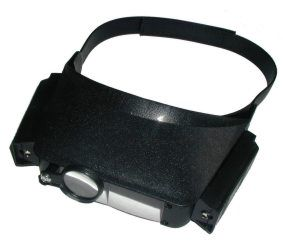 Padidinimo stiklas - akiniai LP-23 su apšvietimu