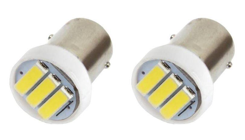 LED lemputės BA9S, 12V, 3xLED 7020, 2vnt., AMIO