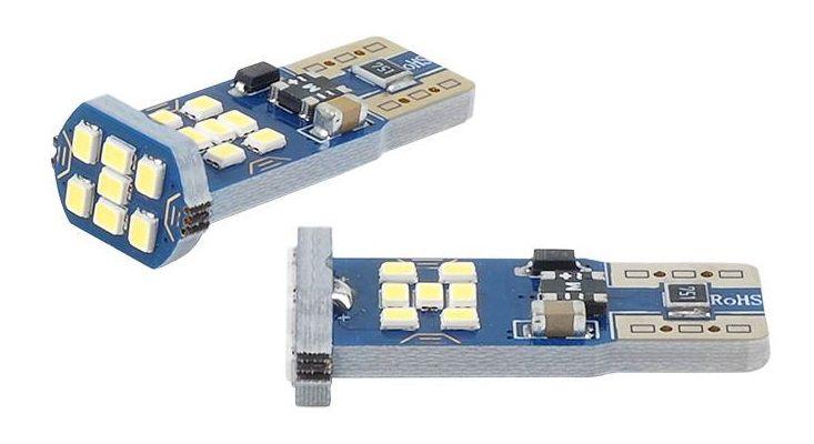 LED lemputės CANBUS, 21xSMD UltraBright 2016, T10e W5W, 12V/24V, 2vnt, AMIO