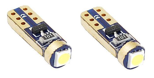 LED lemputės 1xLED 3030, HP, STANDARD T5, 12V, 2vnt, AMIO