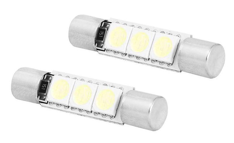 LED lemputės 31mm, 3LED 5050, 12V, 2vnt, LTC