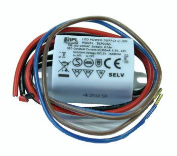 Impulsinis srovės šaltinis 3W LED 350mA 0.5-10V