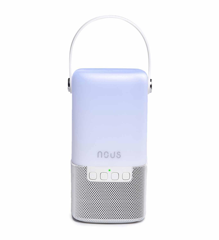 Nešiojama Bluetooth kolonėlė su LED šviestuvu, 3W, IPx4, NOUS