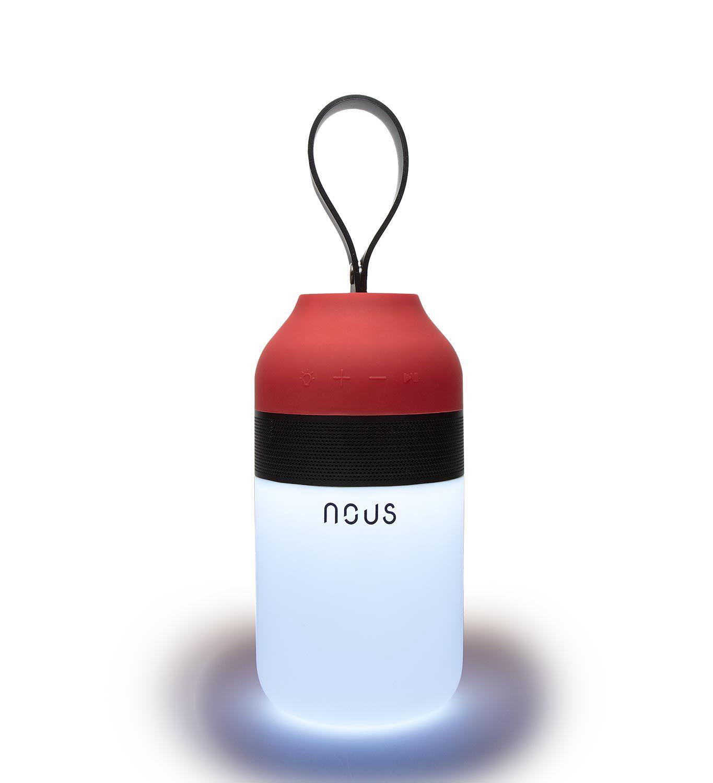 Nešiojama Bluetooth kolonėlė su LED šviestuvu, 1.5W, IPx4, NOUS