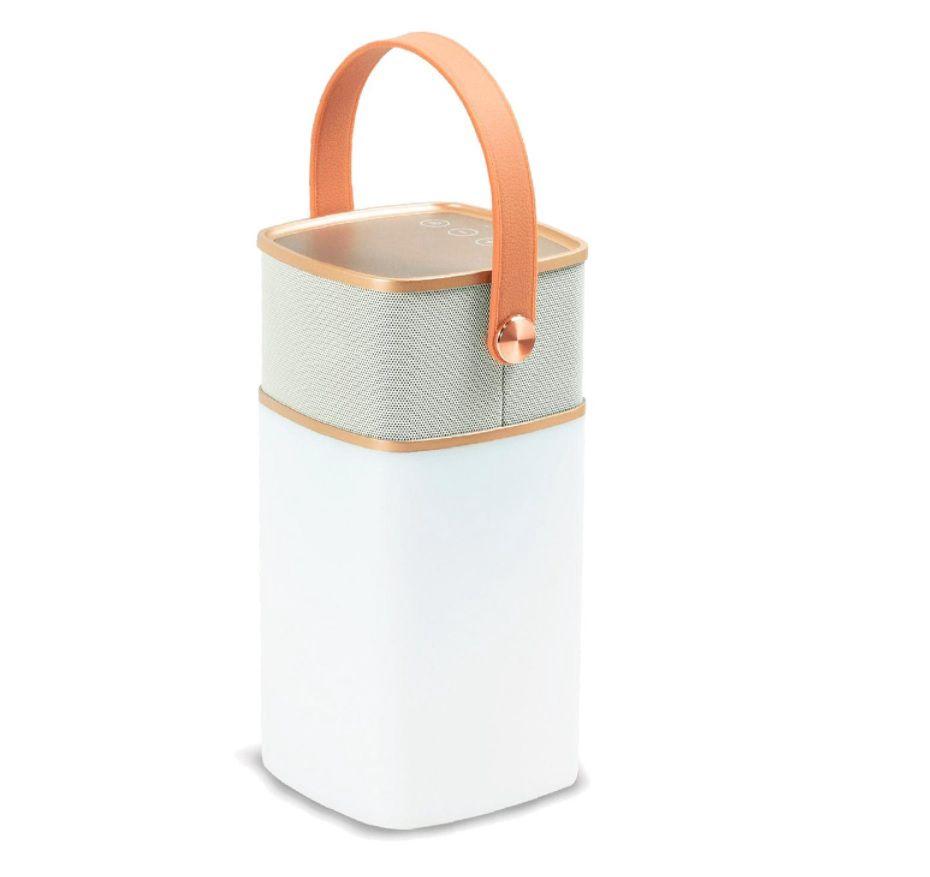 Nešiojama Bluetooth kolonėlė su LED šviestuvu + USB PowerBank, 5W, 4000mAh, IPx4, NOUS
