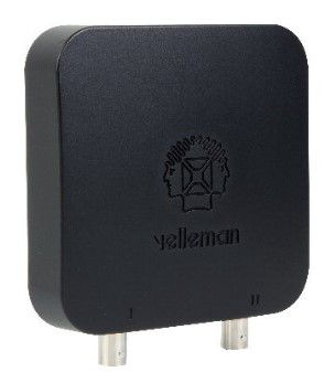 Osciloskopas ir signalų generatorius, USB PC, 25MHz, 2 kanalai, PCSU200 Velleman