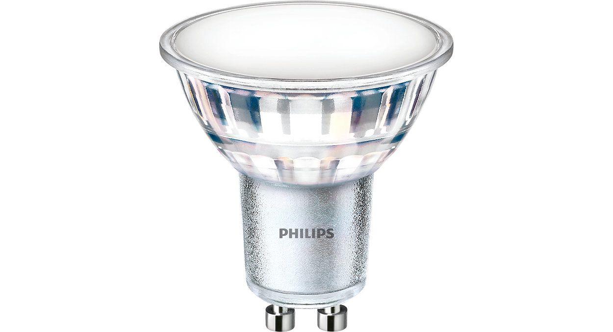 Lemputė LED GU10 230V 5W 550lm, 120°, šiltai balta, PHILIPS