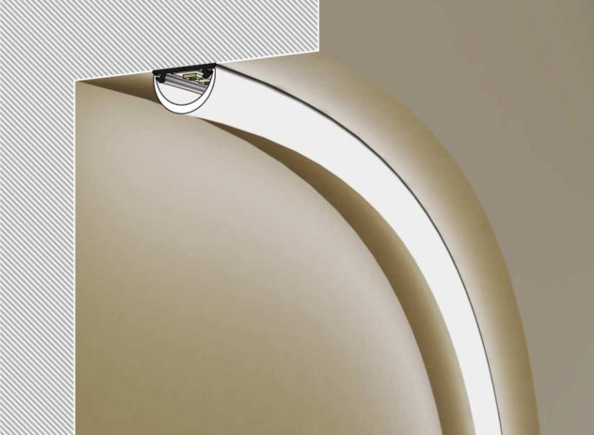 Profilis aliuminis anoduotas LED juostoms, lenkiamas, ARC12, 2m, TOPMET