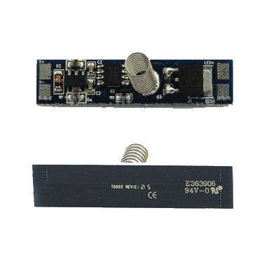 LED juostos jungiklis 12-24Vdc, 8A, ON-OFF, montuojamas į profilį