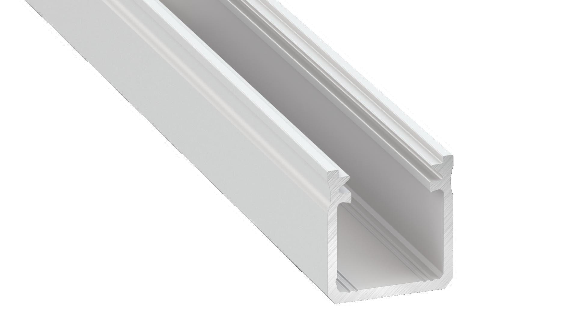 Profilis aliuminis baltas LED juostoms aukštas paviršinis, Y, 2.02m LUMINES